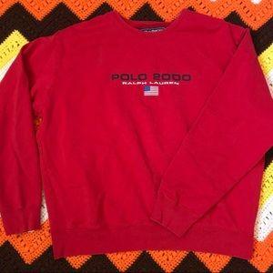 Y2K polo Ralph Lauren sweatshirt